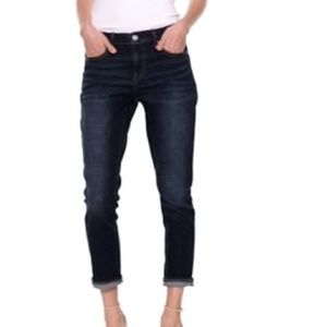 Gap Dark Wash Girlfriend Skinny Jeans